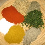 Condimente: cimbru,curry,nuci,boia dulce