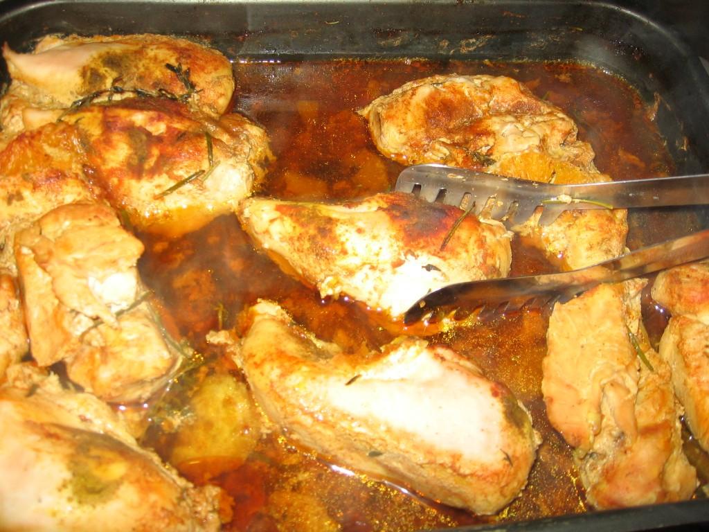 Piept de pui cu rozmarin și curry