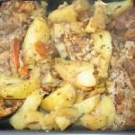Carne cu legume la punga