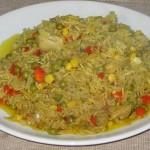 Orez cu curry și legume