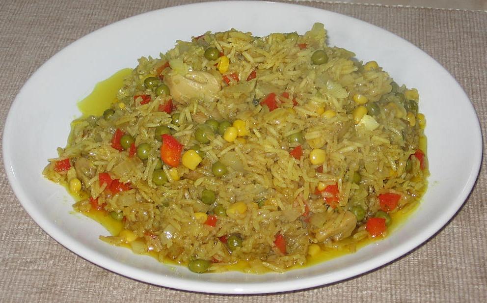 Orez cu curry si legume