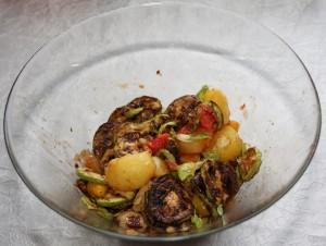 Salata de legume coapte cu rosii cherry
