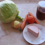 Ingrediente varza cu sunca la cuptor