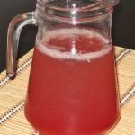 Limonadă roz cu suc de merișor