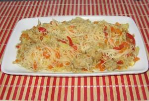 Legume, curry, Taitei de orez la Wok