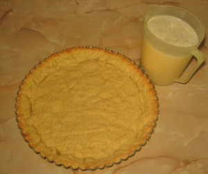 Tarta cu afine si vanilie