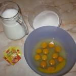 Oua, lapte si zahar pentru crema de zahar ars