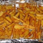 Cartofi wedges copti
