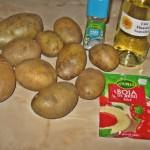 Ingrediente cartofi wedges la cuptor