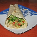 Wrap cu legume proaspete