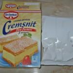 Continut cutie Crema pentr cremsnit Dr Oetker