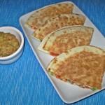 Quesadilla cu legume si branza Cheddar