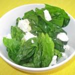Salata de spanac cu branza de oaie