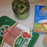 Ingrediente aperitive cu castraveciori murati