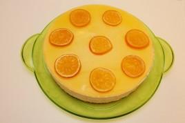 Tort mousse de dovleac cu blat de cafea si jeleu portocale