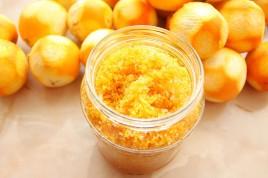 Coaja de portocala cu zahar pentru prajituri