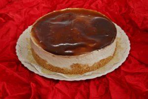 Tort fara coacere cu crema de branza si jeleu de cafea
