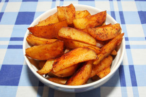 Cartofi-wedges-cu-usturoi